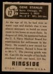 1951 Topps Ringside #17  Gene Stanlee  Back Thumbnail