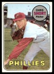 1969 Topps #395  Chris Short  Front Thumbnail