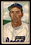 1951 Bowman #224  Billy Cox  Front Thumbnail
