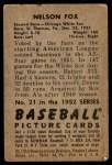 1952 Bowman #21  Nellie Fox  Back Thumbnail