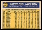 1970 Topps #443  Al Jackson  Back Thumbnail