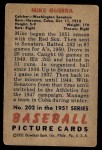 1951 Bowman #202  Mike Guerra  Back Thumbnail