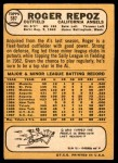 1968 Topps #587  Roger Repoz  Back Thumbnail