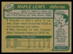 1980 Topps #255  Robert Picard  Back Thumbnail