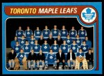1979 Topps #258   Maple Leafs Team Checklist Front Thumbnail
