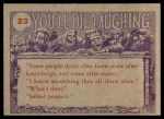 1959 Topps / Bubbles Inc You'll Die Laughing #23   You're whole family Back Thumbnail