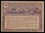 1959 Topps / Bubbles Inc You'll Die Laughing #25   . . . And the earth people Back Thumbnail