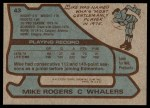 1979 Topps #43  Mike Rogers  Back Thumbnail