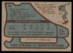 1979 Topps #36  Tim Young  Back Thumbnail