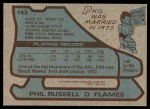 1979 Topps #143  Phil Russell  Back Thumbnail