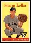 1958 Topps #267  Sherm Lollar  Front Thumbnail
