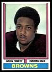 1974 Topps #110 ONE Greg Pruitt  Front Thumbnail