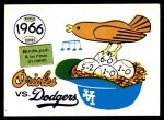 1970 Fleer World Series #63   1966 Orioles vs. Dodgers Front Thumbnail
