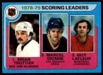 1979 Topps #3   -  Bryan Trottier / Marcel Dionne / Guy LaFleur Scoring Leaders Front Thumbnail