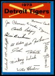 1973 Topps Blue Checklist   Tigers Front Thumbnail