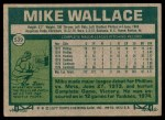 1977 Topps #539  Mike Wallace  Back Thumbnail