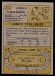 1974 Topps #112  Larry Stallings  Back Thumbnail