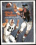 1970 Topps Football Posters #11  Dick Butkus  Front Thumbnail