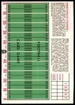 1971 Topps Football Posters #8  Roman Gabriel  Back Thumbnail