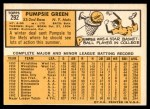1963 Topps #292  Pumpsie Green  Back Thumbnail