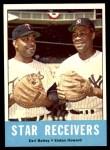 1963 Topps #306   -  Earl Battey / Elston Howard Star Receivers   Front Thumbnail