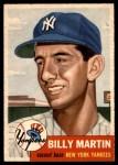 1953 Topps #86  Billy Martin  Front Thumbnail