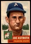 1953 Topps #103  Joe Astroth  Front Thumbnail
