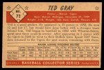 1953 Bowman #72  Ted Gray  Back Thumbnail