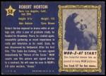 1953 Topps Who-Z-At Star #58  Robert Horton  Back Thumbnail