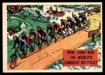 1957 Topps Isolation Booth #81   World's Longest Bicycle Front Thumbnail