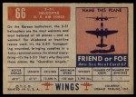 1952 Topps Wings #66   S-51 Helicopter Back Thumbnail