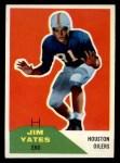 1960 Fleer #31  Jim Yates  Front Thumbnail