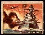 1950 Topps Freedoms War #146   Battleship Support Front Thumbnail
