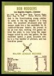 1963 Fleer #20  Bob Rodgers  Back Thumbnail
