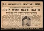 1954 Topps Scoop #81   John Paul Jones Wins Naval Back Thumbnail