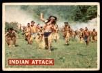 1956 Topps Davy Crockett #14   Indian Attack  Front Thumbnail