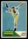 1960 Fleer #46  George Herring  Front Thumbnail