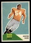 1960 Fleer #70  Don Hitt  Front Thumbnail