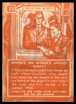 1957 Topps Isolation Booth #33   World's Largest Clock Back Thumbnail