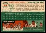 1954 Topps #99  Bobby Hofman  Back Thumbnail