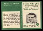 1966 Philadelphia #121  Clarence Childs  Back Thumbnail