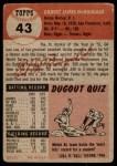 1953 Topps #43  Gil McDougald  Back Thumbnail