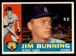 1960 Topps #502  Jim Bunning  Front Thumbnail