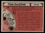 1980 Topps #129  Tom DeLeone  Back Thumbnail
