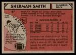 1980 Topps #87  Sherman Smith  Back Thumbnail