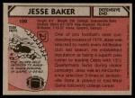 1980 Topps #100  Jesse Baker  Back Thumbnail