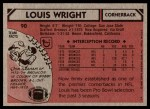 1980 Topps #90  Louis Wright  Back Thumbnail