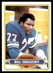 1980 Topps #292  Bill Gregory  Front Thumbnail