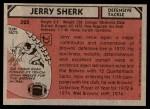 1980 Topps #325  Jerry Sherk  Back Thumbnail