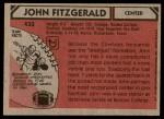 1980 Topps #433  John Fitzgerald  Back Thumbnail